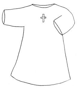 white baptism garment